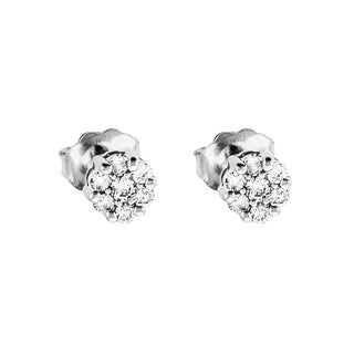 Sonia Bitton 18k White Gold 1/4ct TDW Diamond Stud Earrings (G-H, SI2)
