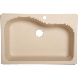 Franke SC3322-1 Large Granite Single Bowl Undermount/Self-Rimming Sink