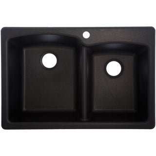 Onyx EOOX33229-1 1-Hole Double-Basin Composite Granite Kitchen Sink