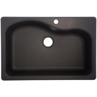 SGR3322-1 Large Granite Single Bowl Undermount/Self-Rimming Sink