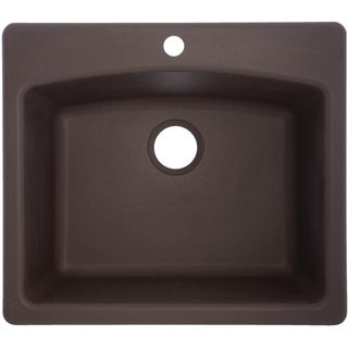 ESDB252291-1 Ellipse Granite Single Bowl Undermount/Self-Rimming Sink