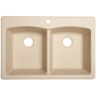 Franke EDCH33229-1 Durable Granite Undermount/Self-Rimming Double Bowl Sink