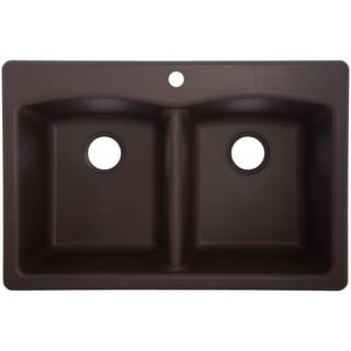 Durable EDDB33229-1 Granite Undermount/Self-Rimming Double Bowl Sink
