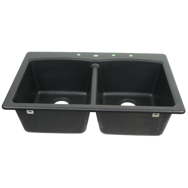 Franke USA Undermount Double Bowl Granite Sink EDOX33229-1