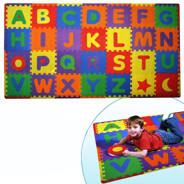 Home Innovations Build and Play 56-piece Alphabets Play Mat
