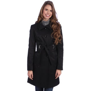 Via Spiga Women's Funnel Neck Rain Trenchcoat