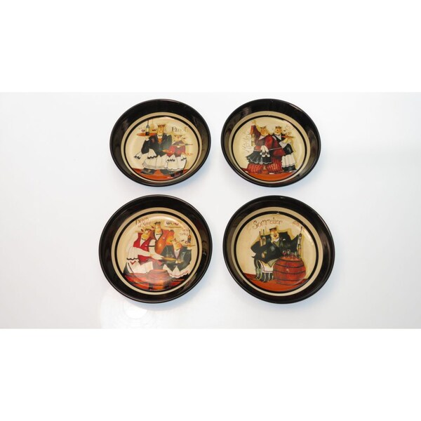 Certified International 'Days of Wine' Assorted Soup/ Pasta Bowls (Set of 4)