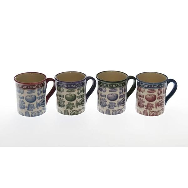 Certified International 'French Market' Assorted Mugs (Set of 4)