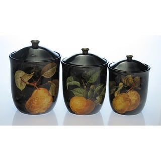 Certified International 'Damask Fruit' 3-piece Canister Set