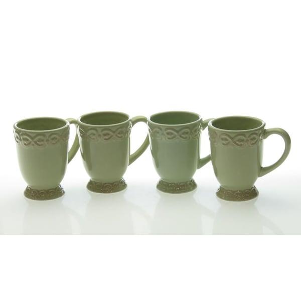 Certified International 'Adeline Green' Mugs (Set of 4)