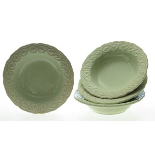 Certified International 'Adeline Green' Soup Bowls (Set of 4)