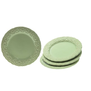 Certified International 'Adeline Green' Salad Plates (Set of 4)