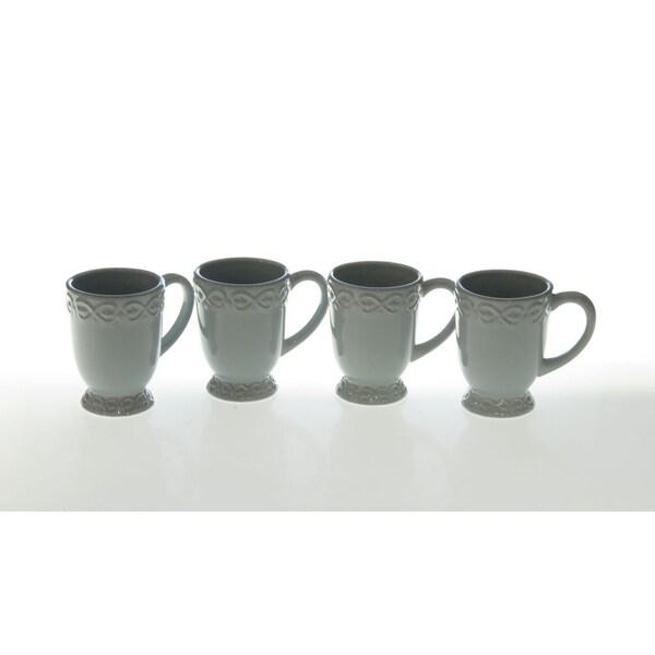 Certified International Adeline Blue Mug (Set of 4)