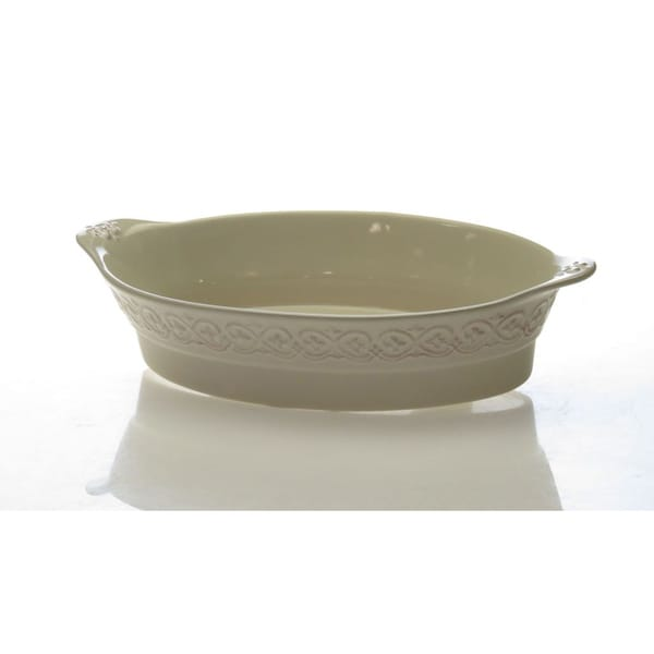 Certified International Adeline Ivory 5-quart Oval Baker