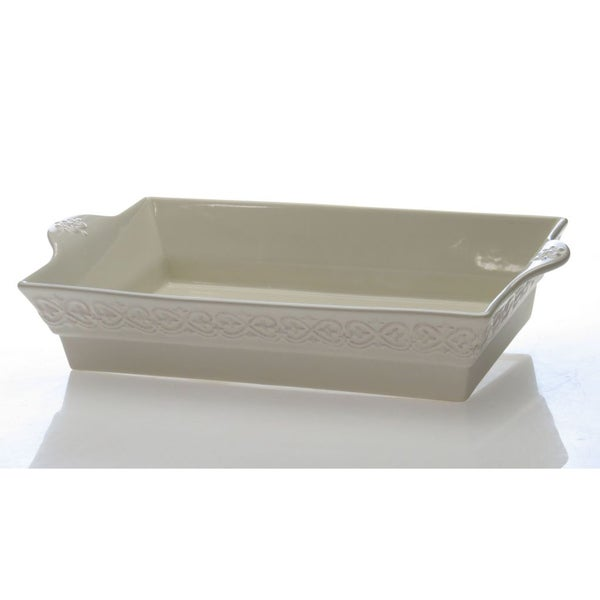 Certified International Adeline Ivory 5-quart Rectangular Baker