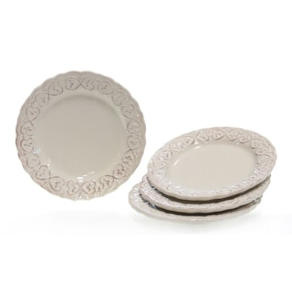 Certified International Adeline Ivory Salad Plate Set