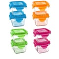 Wean Green Snack Cube 7-ounce Glass Food Containers (Pack of 2)