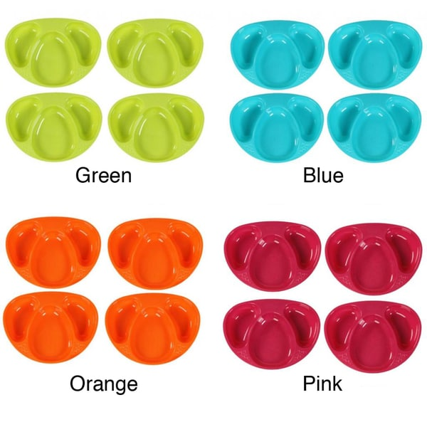 Tommee Tippee Explora 3-section Plate (Pack of 4)
