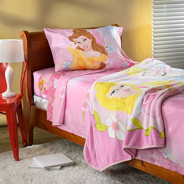 Disney Princess 'Girls Talk' Twin Sheet and Blanket Set