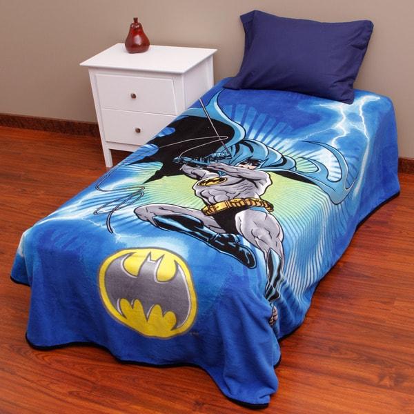 Batman Lightning Swoop Fleece Blanket