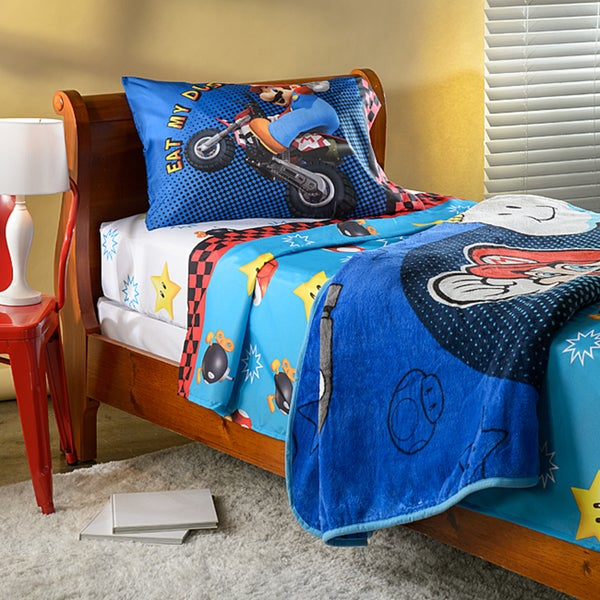 Mario 'Who's With Me' Twin Size Sheet and Blanket Set