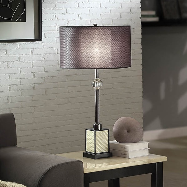 TRIBECCA HOME Lacey Black Chrome Table Lamp