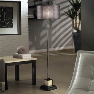 Lacey Black Chrome Floor Lamp