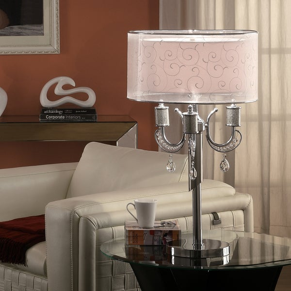 Alonza Chrome Crystal Table Lamp
