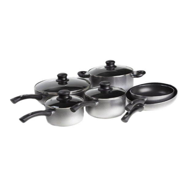 Art & Cuisine Evolution Grey 10-piece Cookware Set