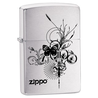 Zippo Butterfly on Chrome Lighter
