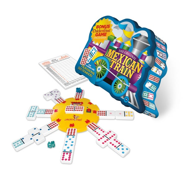 Mexican Train Deluxe Traditional Double 12 Domino Set with Dots Game 10411130