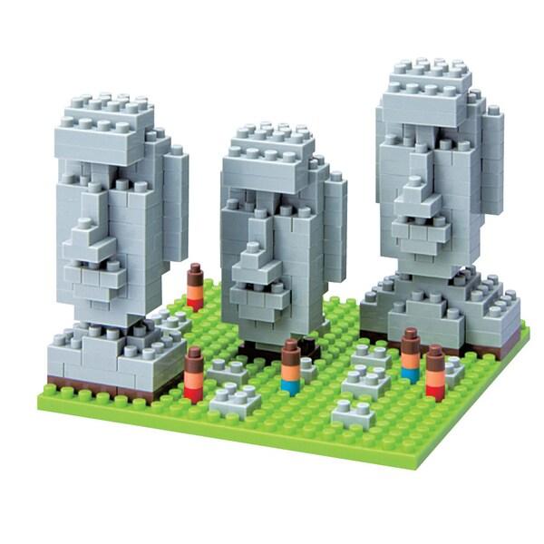 nanoblock Sites to See Level 2 - Moai Statues of Easter Island: 320 Pcs