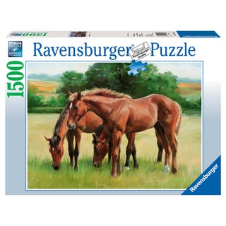 1500-piece Grassy Horses Puzzle