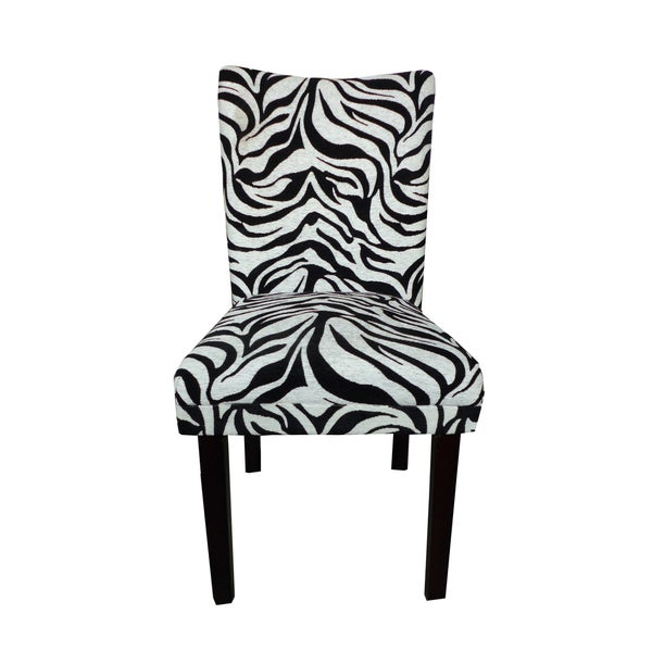 Tiger Striped Parsons Chairs (Set of 2)