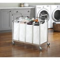 Whitmor 6097-3529-BB Chrome 4-section Laundry Sorter