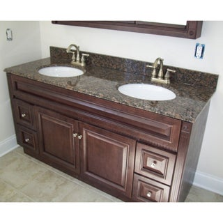 60 x 21 Heritage Cherry Bathroom Vanity & 61 x 22 Granite Top