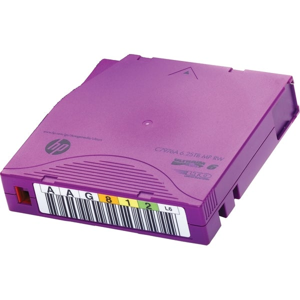 HP LTO-6 Ultrium 6.25 TB BaFe RW Non Custom Labeled Data Cartridge 20