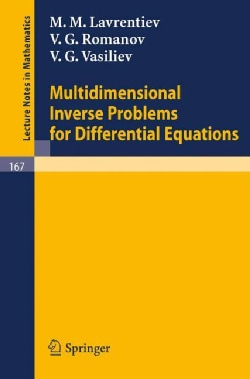 Multidimensional Inverse Problems for Differential Equations (Paperback)