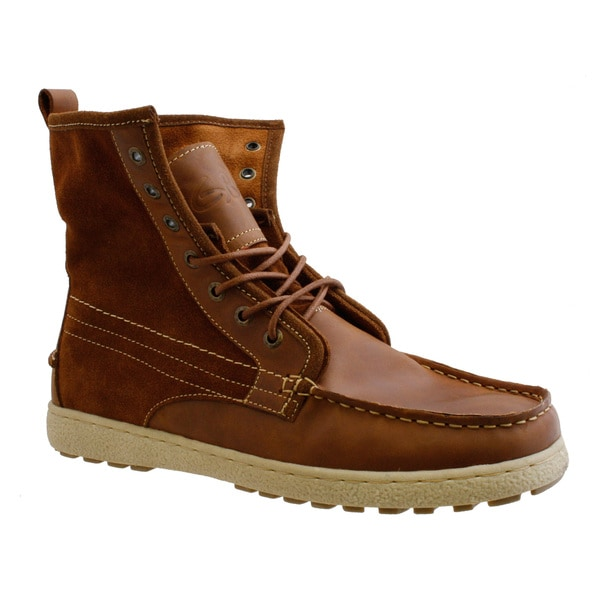 GBX Men's Leather/ Canvas Work Boots