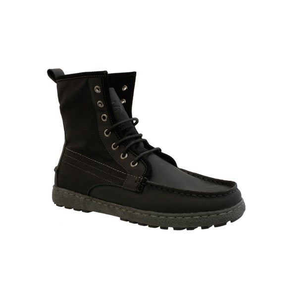 GBX Men's Leather and Canvas Lace-up Boots
