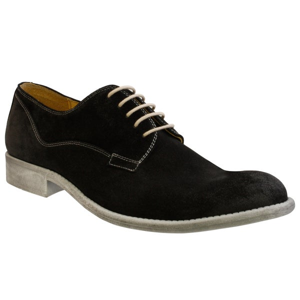 GBX Men's Black Suede Oxfords