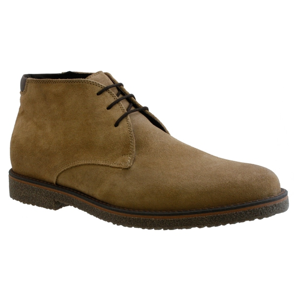 GBX Men's Beige Suede Ankle Boots
