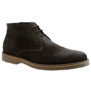 GBX Men's Dark Brown Suede Ankle Boots