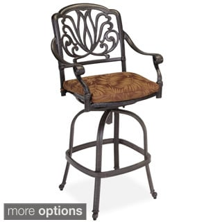 Floral Blossom Swivel Stool with Cushion