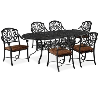 Floral Blossom 7-Piece Outdoor Dining Set