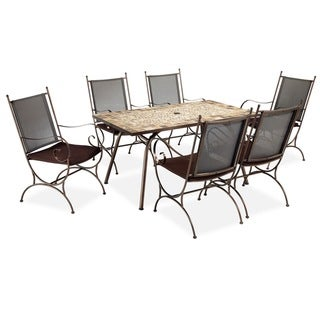 Sundance Marble Rectangle Dining Set