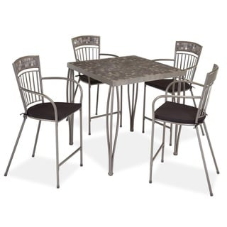 Glen Rock Marble 5-peice Bistro Set