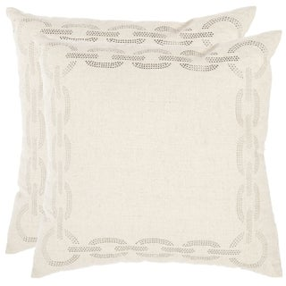 Sibine 18-inch Ivory Decorative Pillows (Set of 2)