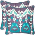 Manhattan 22-inch Lavander/ Aqua Blue Decorative Pillows (Set of 2)
