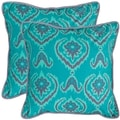 Safavieh Alpine 20-inch Aqua Blue Decorative Pillows (Set of 2)